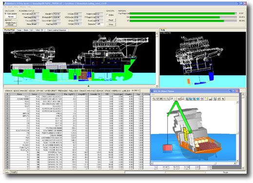 Main screen of Autoload for Offshore Supply Ships