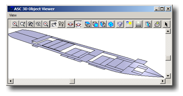 3D view of tweendeck panels positions in SPS